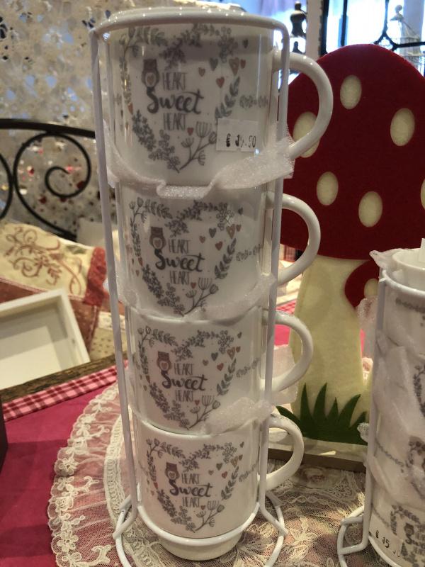 Set de 4 tasses Cally