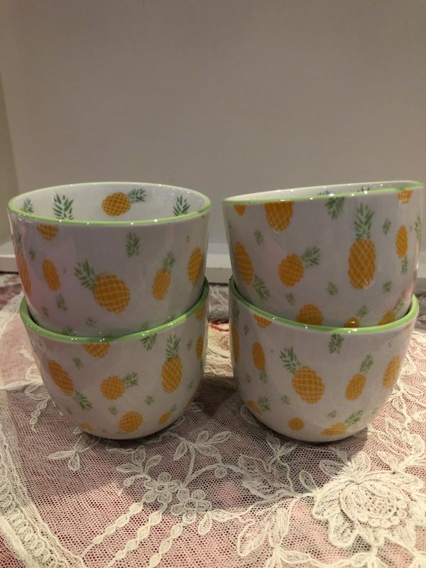Tasse à café ananas