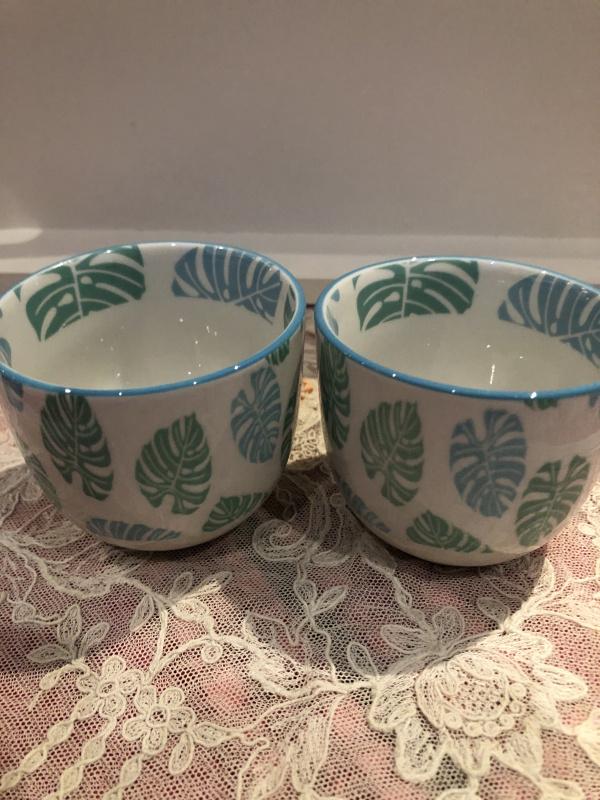 Tasse à café feuilles jungle