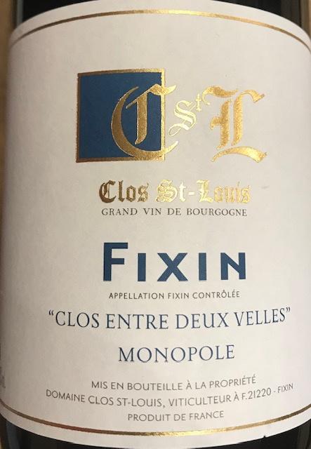 """Fixin Monopole """" Entre Deux Velles """" 2018 - 75 cl"""