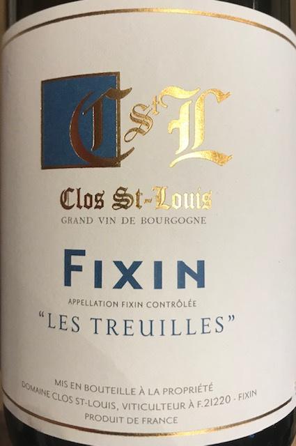 """Fixin """" Les Treuilles """" 2018 - 75 cl"""