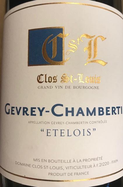 """Gevrey Chambertin """" Etelois """" 2018 - 75 cl"""