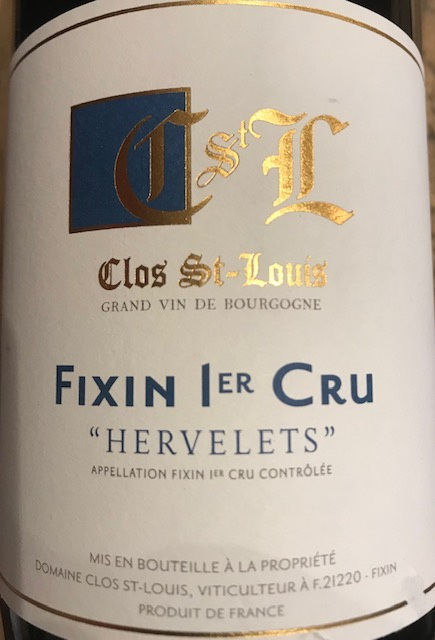 "Fixin 1er Cru "" Hervelets "" 2016 - 75 cl"