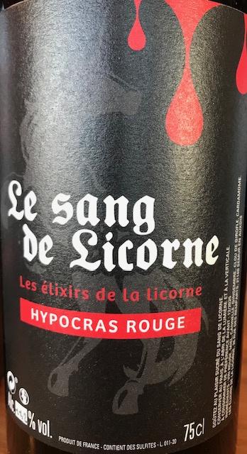 Hypocras Rouge 11.2 ° - Bouteille 50 cl