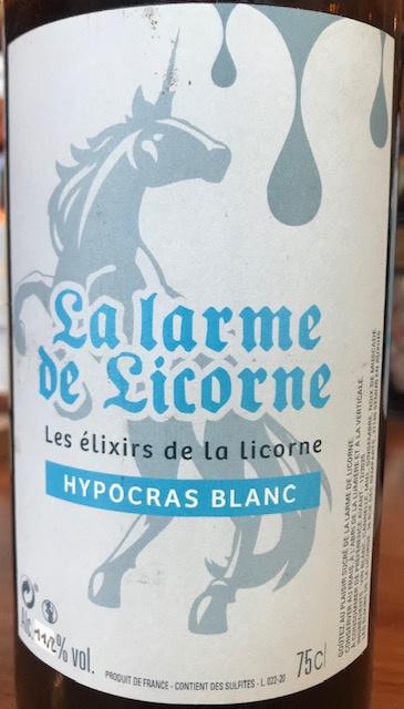 Hypocras Blanc - 11.2 ° Bouteille 50 cl