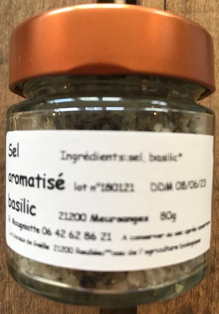Sel Aromatisé Basilic BIO - Pot 80 gr