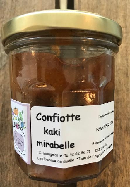 Confiotte Kaki et Mirabelle