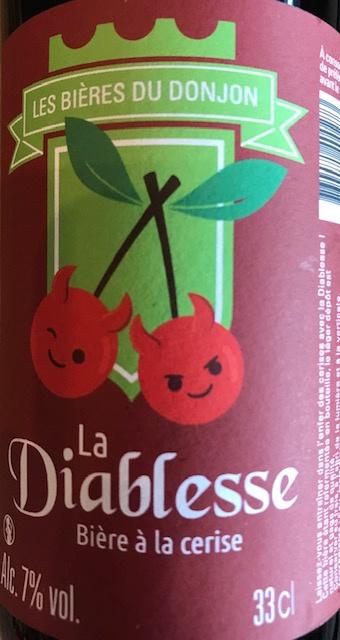 """Bière à la Cerise """"La Diablesse"""" - 7% - 33 cl"""