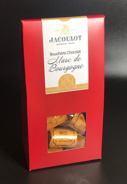Bouchons Chocolats au Marc de Bourgogne - Etui de 120 gr