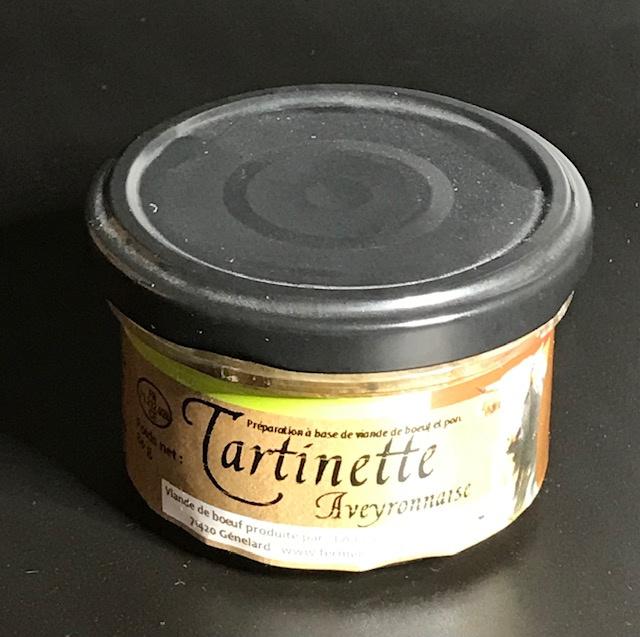 """Tartinette de Boeuf """" Roquefort et Noisettes """" - Pot de 80 gr"""