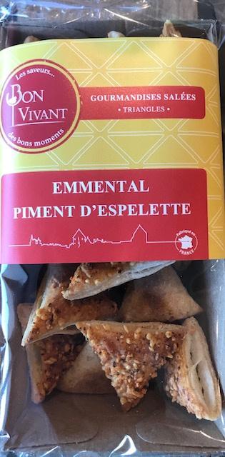 Triangles Emmenthal et Piment d'Espelette - Barquette 80 gr