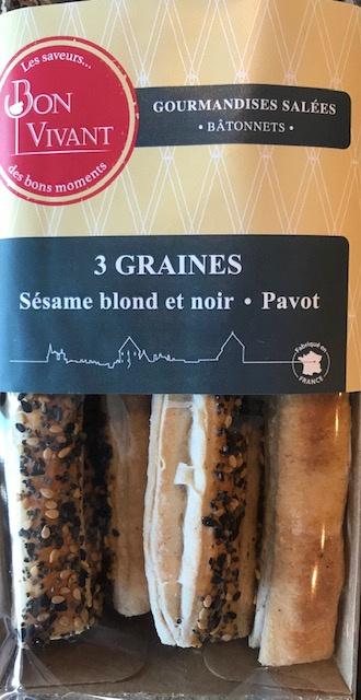 Bâtonnets aux Graines - Barquette 80 gr