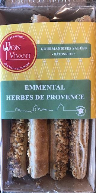 Bâtonnets Emmenthal et Herbes de Provence - Barquette 80 gr