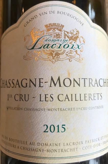 """Chassagne Montrachet 1er Cru """" Les Caillerets """" 2015 - 75 cl"""