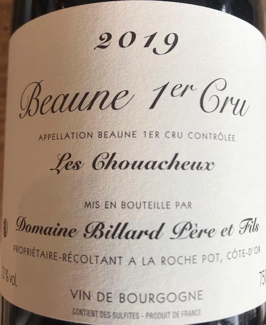 Beaune 1er Cru « Les Chouacheux » 2019 - 75cl