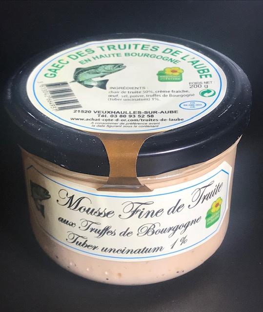 Mousse de Truite aux Truffes - Verrine 200 gr