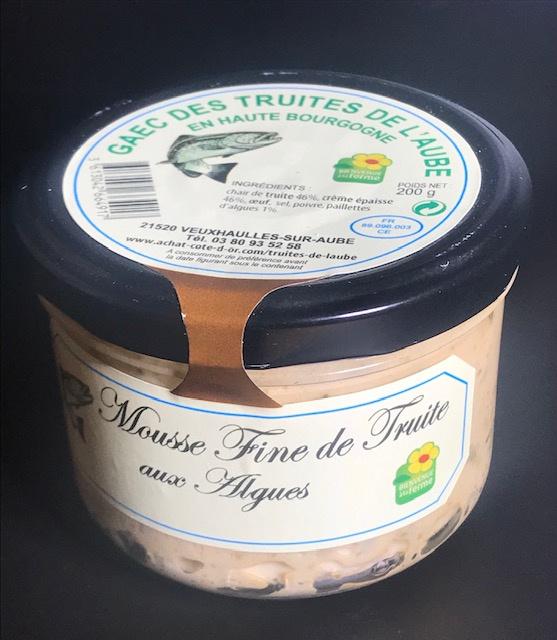 Mousse de truite aux Algues - Verrine 200 gr