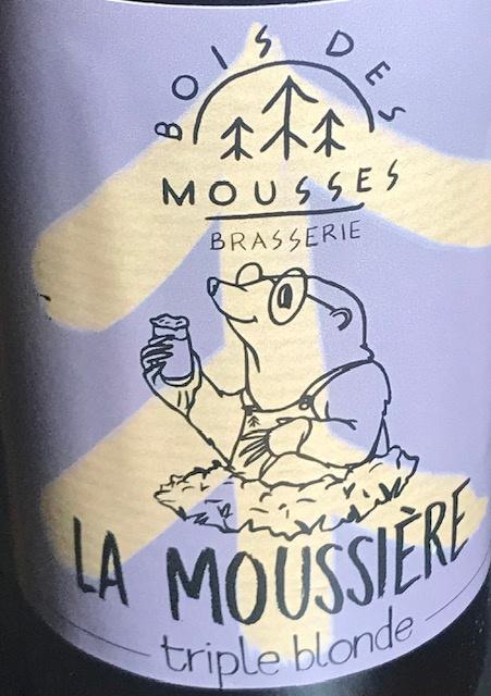 """Bière Blonde Triple """" La Moussière """" - 8 % - 33 cl"""