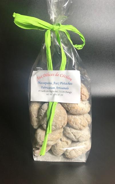 Biscuits Massepains Pistaches - Sachet de 200 gr