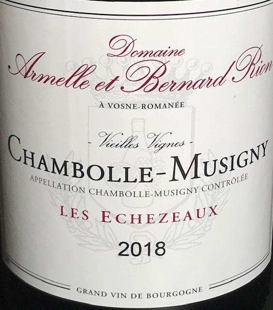 """Chambolle Musigny """" Les Echezeaux """" 2018 - 75 cl"""