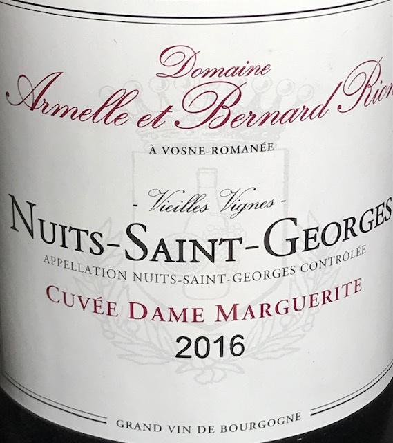 """Nuits Saint Georges """" Dame Marguerite """" 2016 - 75 cl"""