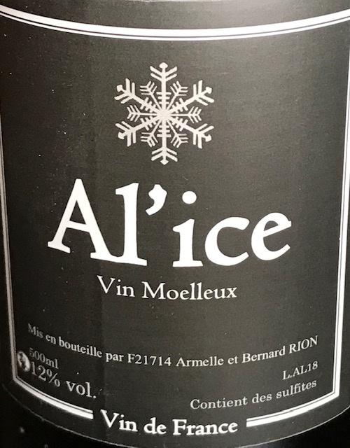 "Vin Blanc Moelleux "" Ali ' Ice "" 50 cl"
