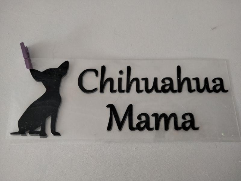 sticker chihuahua noir