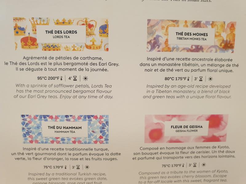 Coffret Les grandes créations parfumées Palais des thés 24.90