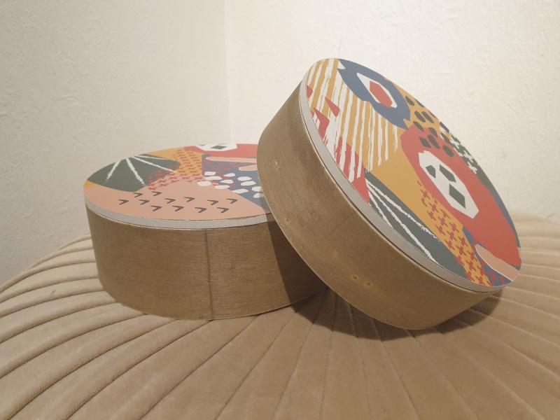 Set de 2 boîtes de rangement Paloma