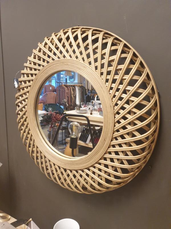 Miroir rond bambou petit modèle