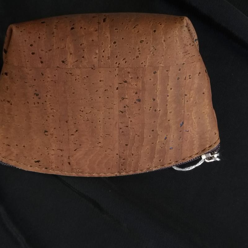 Porte monnaie en liège marron