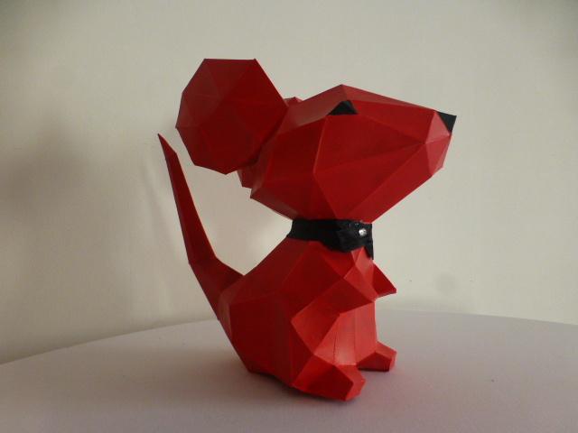 souris rouge