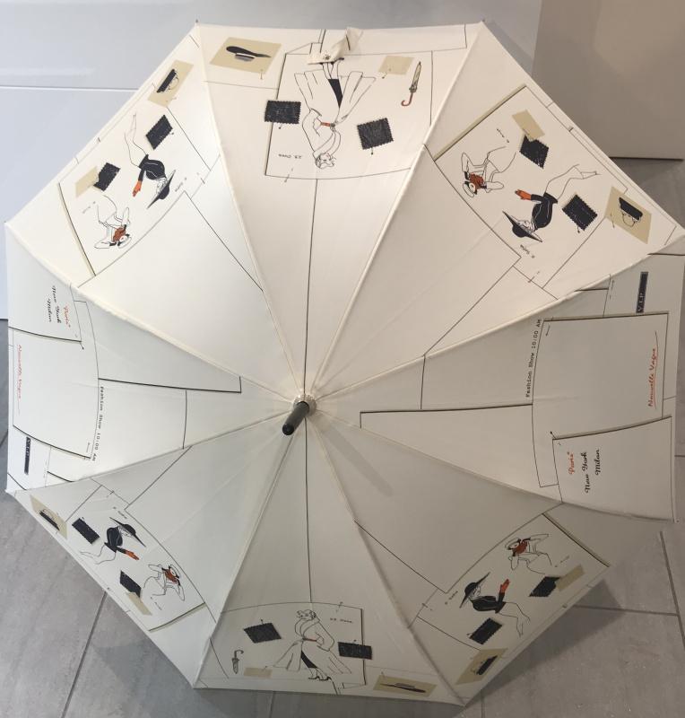Parapluie grand manche  VAUX  Réf : 5815 écru mode