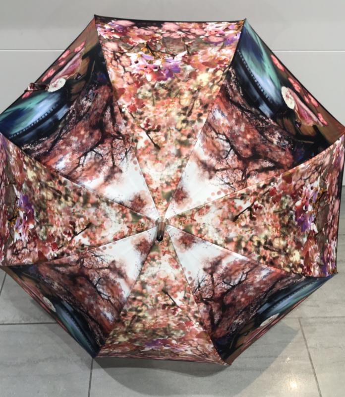 Parapluie grand manche  VAUX  Réf :  FLEUR DE SAKURA 5725
