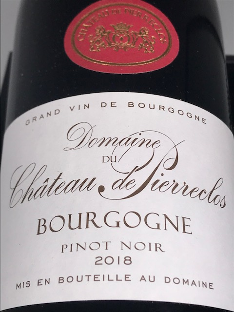 Bourgogne Pinot Noir Bio 2018 - 75cl