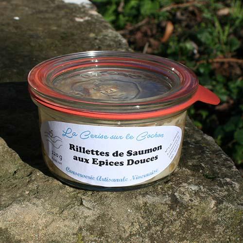 Rillettes de saumon aux épices douces - 120g