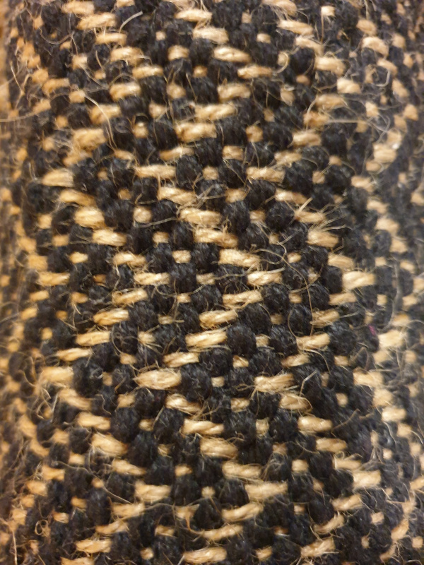 Tapis jute coton chevrons noir/naturel 60 par 90 TAP016