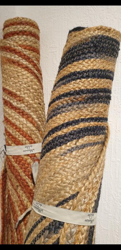 Tapis jute double couleur La Maison de Lilo  100cm 45