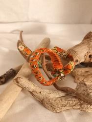 "Bracelet ""ruban de fleur orange"""