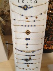 Bracelet Ikita  bleu et bleu turquoise