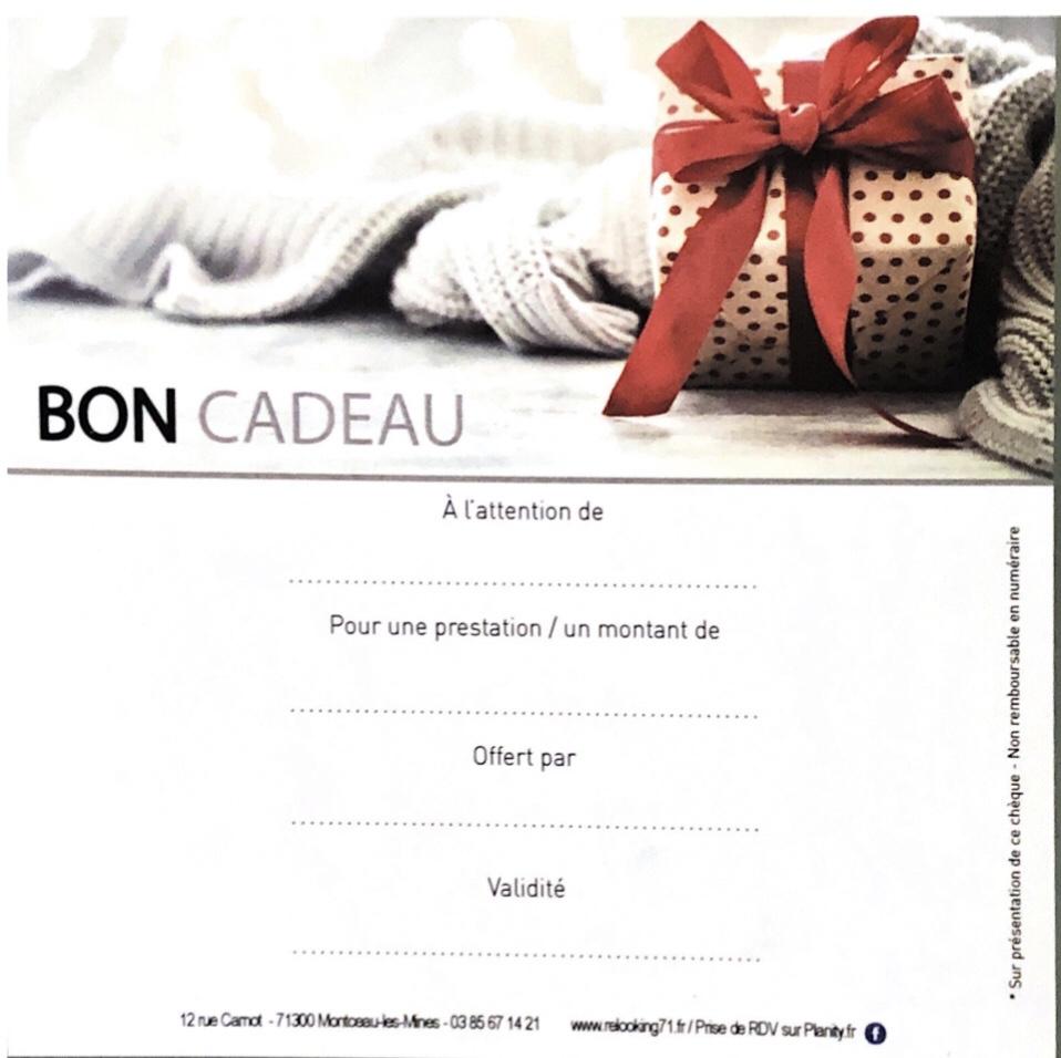 CARTE CADEAU FORFAIT COUPE COULEUR COIFFAGE cheveux courts