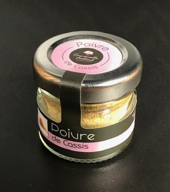 Poivre de Cassis Noir de Bourgogne - Pot 8 gr