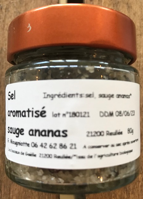 Sel Aromatisé Sauge et Ananas BIO - Pot 80 gr